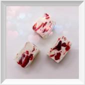 一口草莓牛軋糖